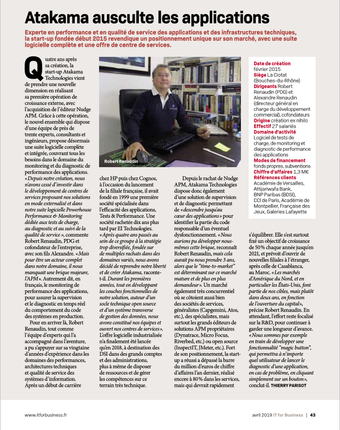 IT for Business -avril 2019- ITW Robert Renaudin