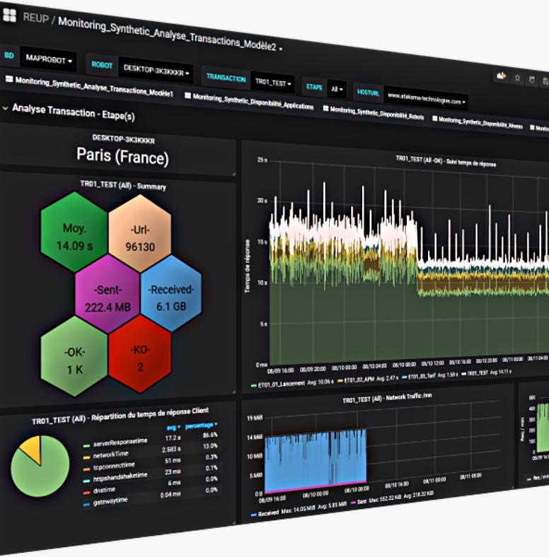 User satisfaction Monitoring, synthetic monitoring
